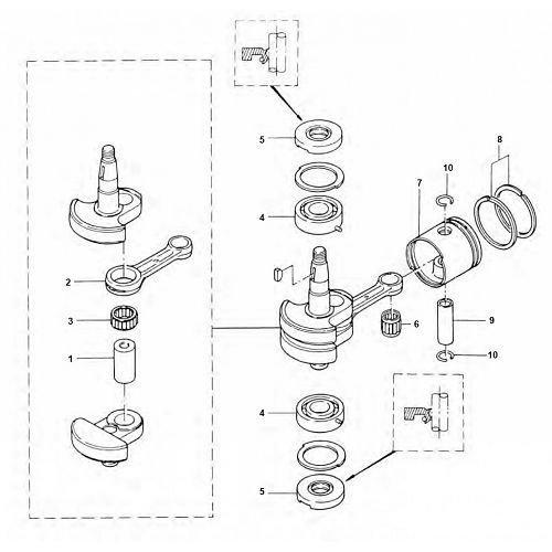 Tohatsu Block / Halterung und andere Teile