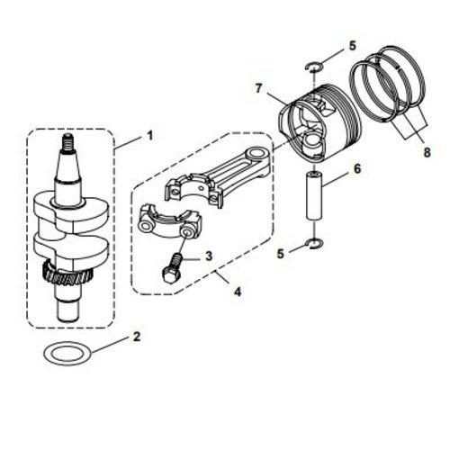 Kurbelwellen- und Kolbenteile