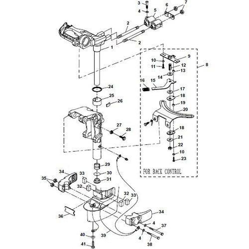 Parsun Außenborder F20A (F15A) BM (FW) Halterung 2 Teile