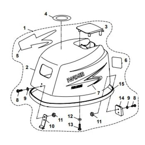 Top Cowling Assembly Teile