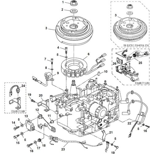 Parsun Außenborder F20A (F15A) BM (FW) Elektrik 1 Teile