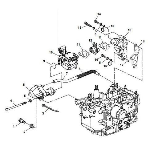 Parsun Außenborder F20A (F15A) BM (FW) Einlassteile