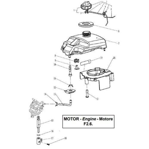 Parsun Außenborder F2.6 Kraftstoffteile