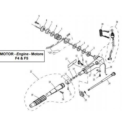 Parsun Außenborder F4 & F5 Lenkungsteile