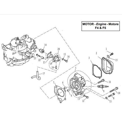 Parsun Außenborder F4 & F5 Zylinder & Kurbelgehäuse 1 Teile