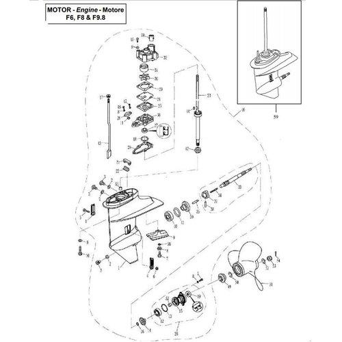 Untere Gehäuse- und Antriebsteile