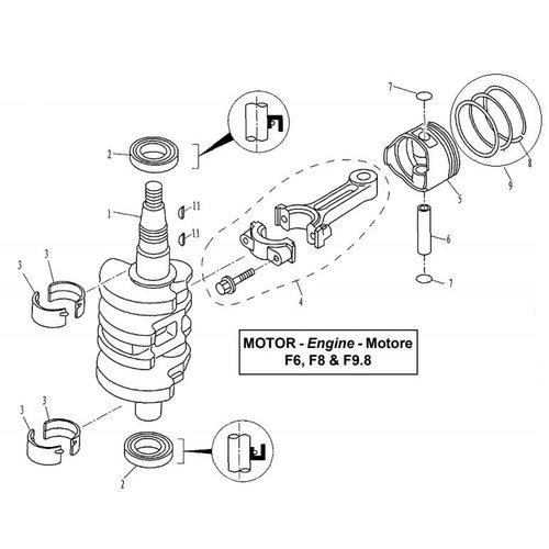 Kurbelwelle & Kolbenteile
