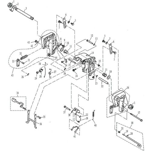 Parsun Außenborder F9.9, F13.5 & F15 Halterung 1 Teile