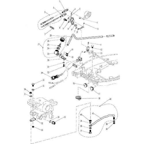 Elektrostart Bottom Cowling & Halterung Teile