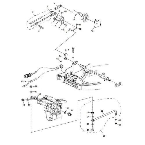 Parsun Außenborder F40 Control System 2 Teile