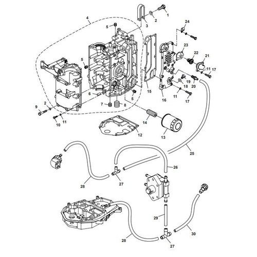 Parsun Außenborder F40 Kurbelgehäuseteile
