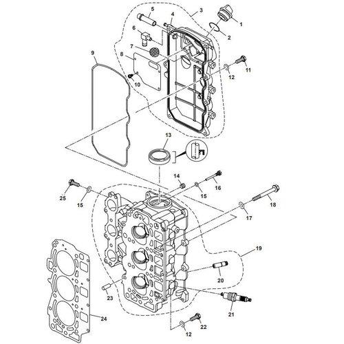 Parsun Außenborder F40 Zylinderkopfteile