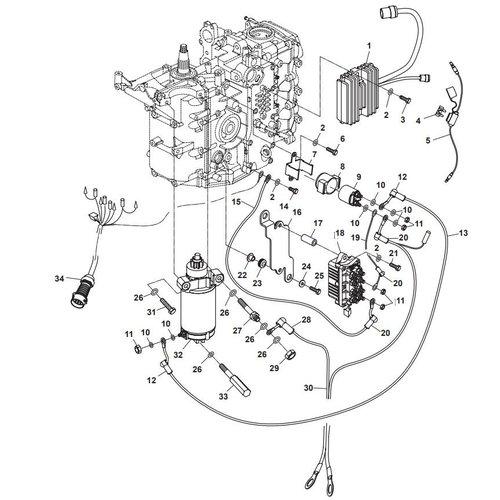 Parsun Außenborder F40 Elektrisch 2 Teile