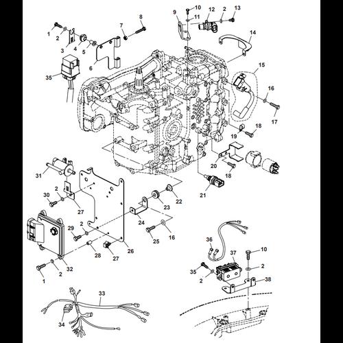 Parsun Außenborder F40 Elektrisch 3 Teile