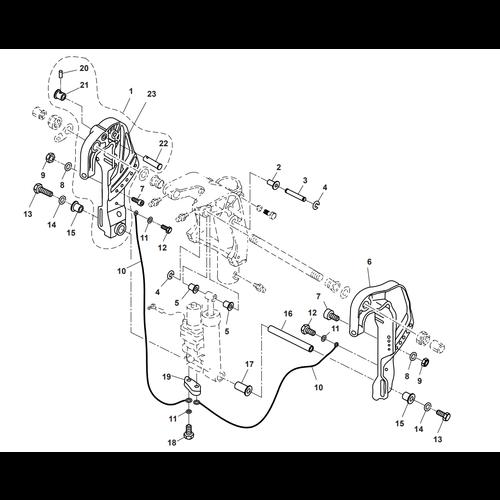 Parsun Außenborder F40 Halterung 3 Teile