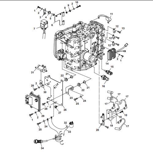 Parsun Außenborder F50 & F60 Elektrik 3 Teile