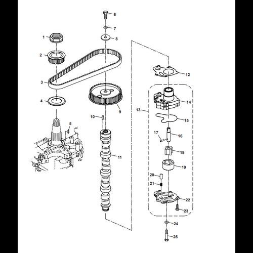 Parsun Außenborder F50 & F60 Manuelle Ölpumpenteile