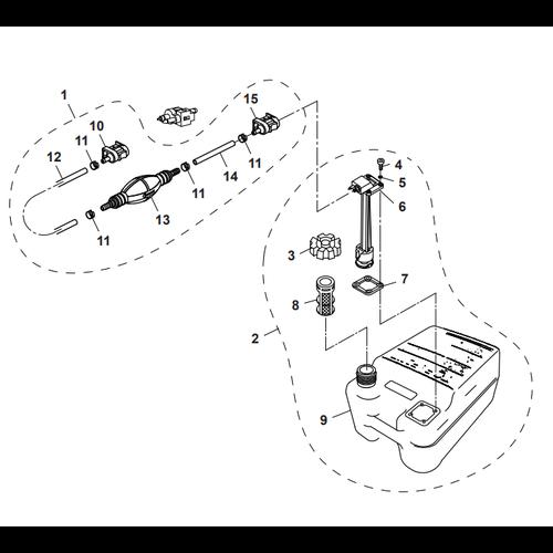 Parsun Außenborder F50 & F60 Tankaußenteile