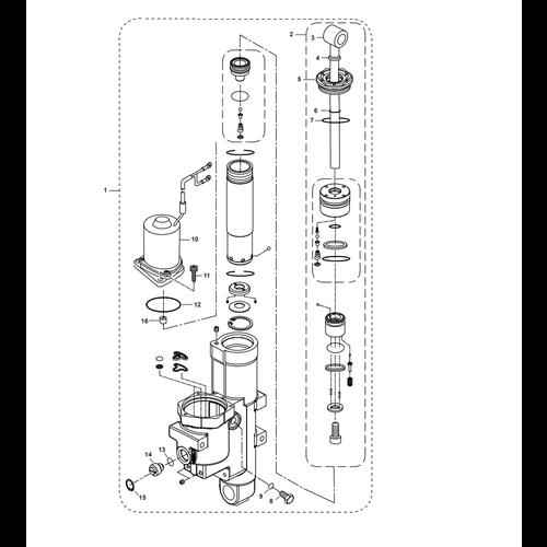 Parsun Außenborder F50 & F60 Hydraulic Tilt 2 Teile