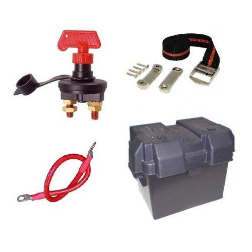 Batterie, Batteriekasten, Kabel und Zubehör