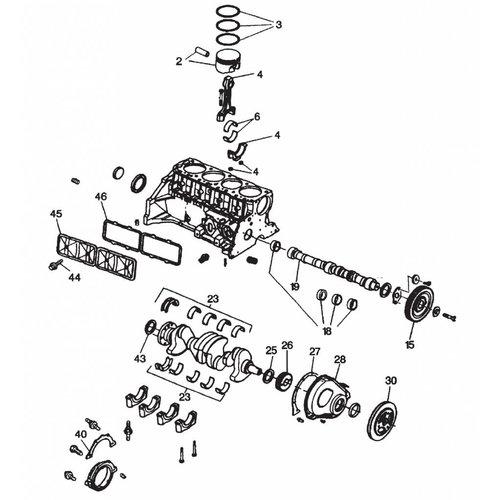 Motorblock in Ersatzteilen