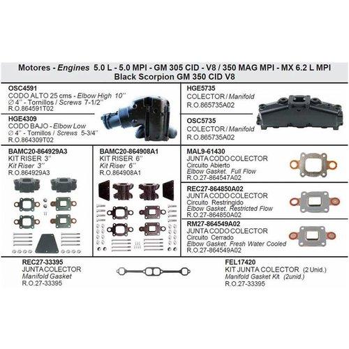 5,0 l - 5,0 MPI - GM 305 CID - V8 / 350 MAG MPI - MX 6,2 l MPI Black Scorpion GM 350 CID V8