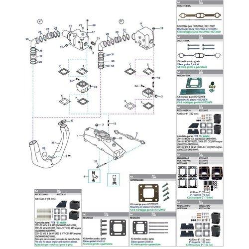 200 - 228 - 230 - 230MIE - 5,0L - 5,0LX - 898 - 5,0L MPI - GM305 CID 260 - 260 MIE - 320 EFI - 350 MAG - GM350 CID - 5,7L - 5.7LX 6.2L MPI V8 (1983 + 2003)