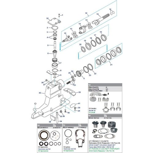 Antriebswellengehäuse (Serie OD469859-OK999999) (1991-97)
