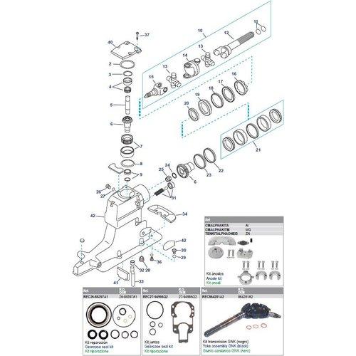 Antriebswellengehäuse (Serie OL100040 und höher) (ab 1998)