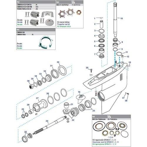 Getriebegehäuse Bravo II