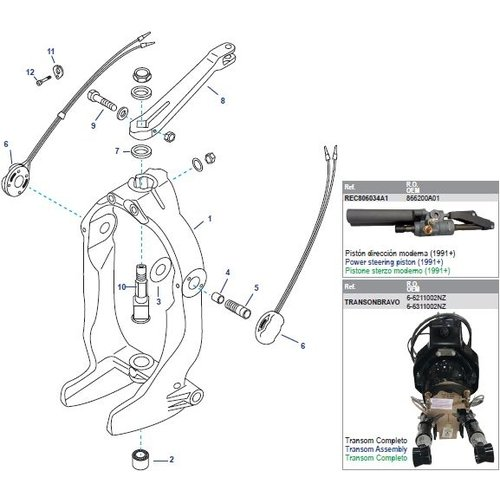 Mercruiser Gimbal Housing Ring Assembly Bravo One (I-II-III)