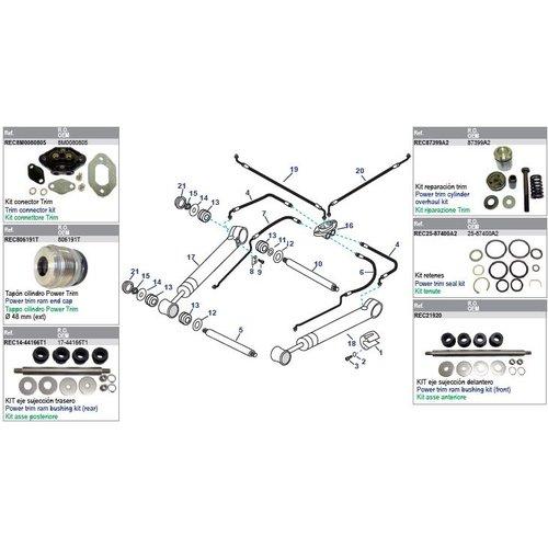 Mercruiser Power Trim Arms & Power Steering Hoses Modelle Bravo