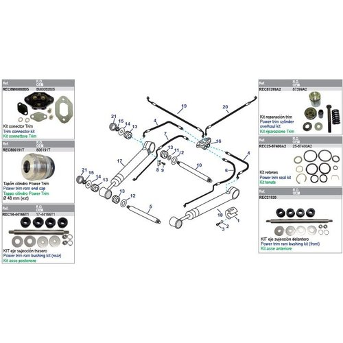 Power Trim Arms & Power Steering Hoses Modelle Bravo