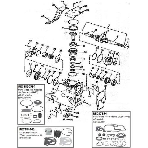 Oberes Getriebegehäuse 1986-1993