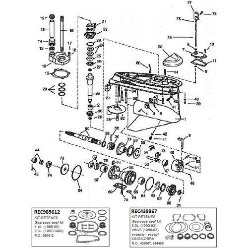 Unteres Getriebegehäuse 1986-1993