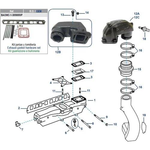 GM 3,0-Liter-Motorblockkrümmergummis und -dichtungen