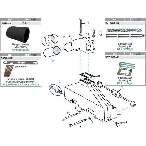 Mannigfaltig AQ / BB Modelle: 200 bis 572 + GM305 / 350 CID