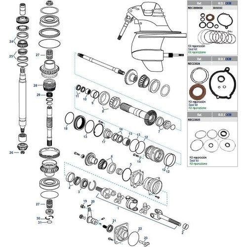 Volvo Penta XDP Getriebekomponenten