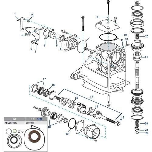 SX-A, FWD, DPS-A, DPS-B Obere Gehäusekomponenten