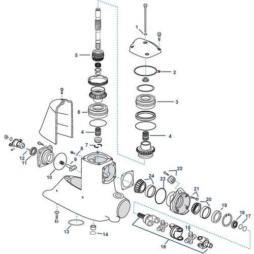 Volvo Penta DP-G, DPX-A Obere Gehäusekomponenten