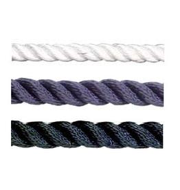 Poly ropes Anchor Rope 3 Strang Weiß / Blau / Schwarz Pro Meter