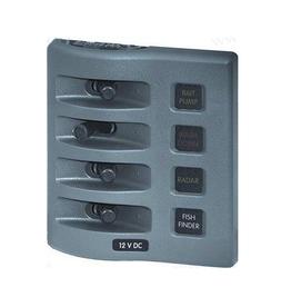Blue sea systems Wasserdichte Schalterpanel 4 oder 6 Schaltet Weiß / Grau