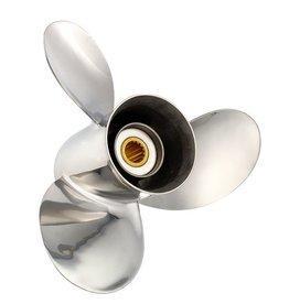 Solas Mercury/Honda/Mercruiser-Alpha/Bravo 3-Blatt Edelstahl Propeller 135 bis 300 PS | 15 Zahnkeilen