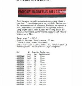 Golden Ship Kraftstoffschlauch (Feuerfest) 6 bis 74 mm pro 1 m