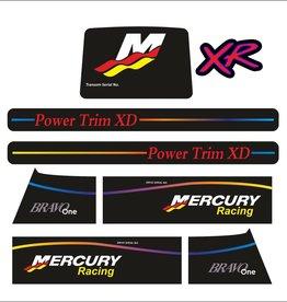 Mercury MerCruiser Racing XR Aufklebersatz