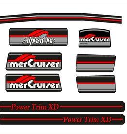 Mercury MerCruiser Alpha 1 Aufklebersatz