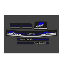 Mercury MerCruiser Alpha 1 Gen 2 Blauw Aufklebersatz