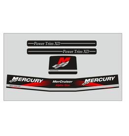 Mercury MerCruiser Alpha 1 Gen 2 Rood Aufklebersatz