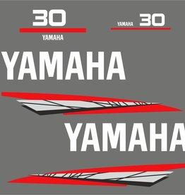 Yamaha 30 Jahre 1998 - 2004 Aufklebersatz Grau