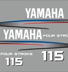 Yamaha 115 PS 4-Takt Aufklebersatz